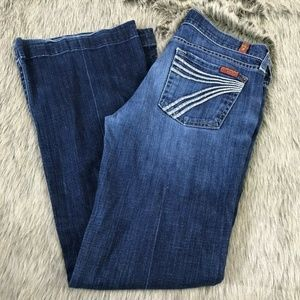 7 For All Mankind Wide Leg Dojo Jeans Cotton 26